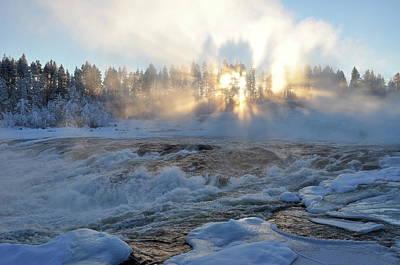 Storforsen, Biggest Waterfall In Sweden Poster