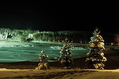 Storforsen In Night Poster by Tamara Sushko