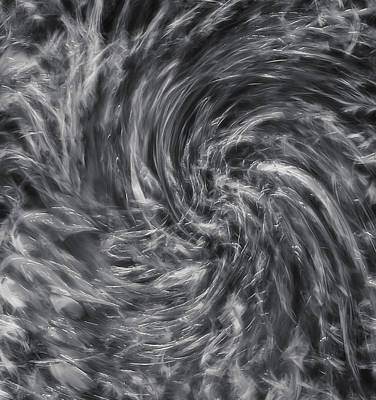 Storm 2 - Black And White - Abstract Poster by Steve Ohlsen