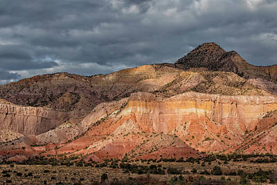 Storm Above Ghost Ranch Mountains Poster
