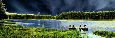 Poster featuring the photograph Storm Approaching The Pond by David Patterson