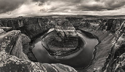 Storm At Horseshoe Bend Poster