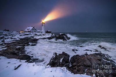 Storm At Night Poster by Benjamin Williamson
