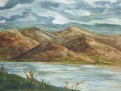 Poster featuring the painting Storm Clouds by Ellen Levinson