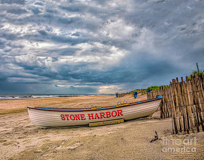Storm Clouds In Stone Harbor Poster