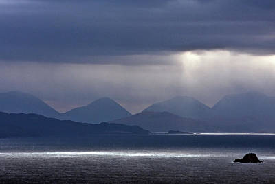 Storm Clouds On The Cuillins Poster by John McKinlay