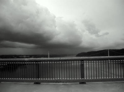 Storm Clouds On The Hudson Poster