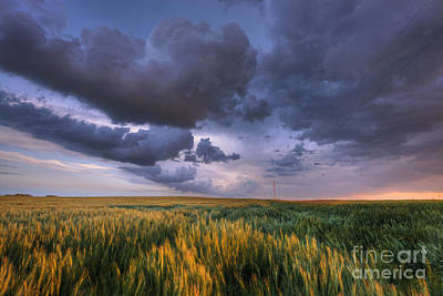 Storm Clouds Over Barley Poster