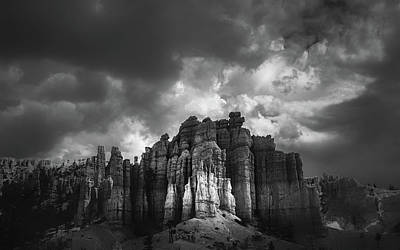 Storm Clouds Over Bryce Poster