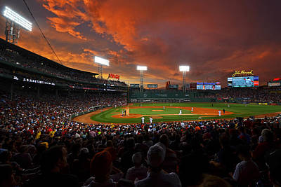 Storm Clouds Over Fenway Park Poster
