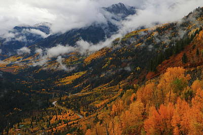 Poster featuring the photograph Storm Clouds Over Mcclure Pass During Autumn by Jetson Nguyen