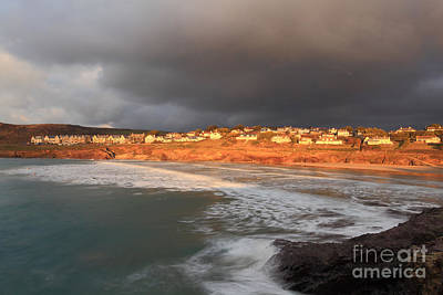 Storm Clouds Over Polzeath Poster