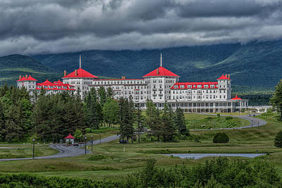 Storm Clouds Over The Mount Washington Hotel Poster by Brian MacLean