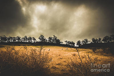 Storm Clouds Over York Plains Poster