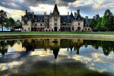 Storm Clouds Roll Over Biltmore As Sun  Sets Poster by Carol R Montoya