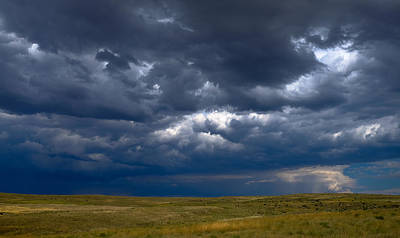 Poster featuring the photograph Storm Clouds To The East by Monte Stevens