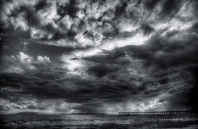 Storm Clouds Ventura Ca Pier Poster