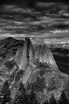 Storm Coming Half Dome Poster