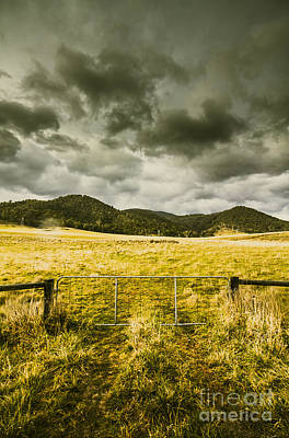 Storm Covered Winter Farmland Poster by Jorgo Photography - Wall Art Gallery