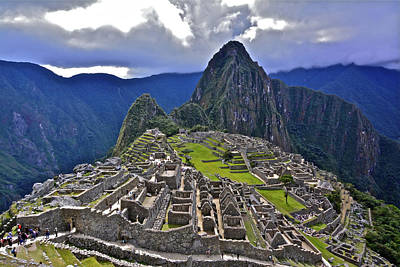 Storm Inbound To Machu Picchu Poster