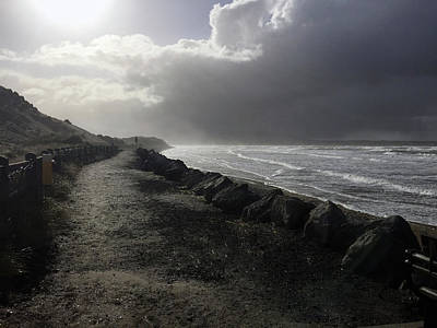 Storm On Strandhill Poster by Amy Williams