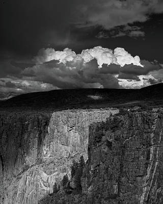 Storm Over Black Canyon Poster