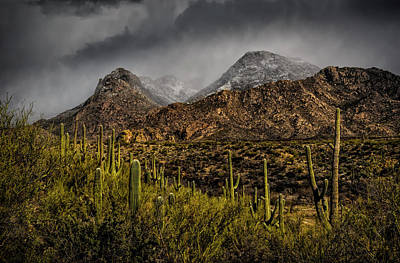 Poster featuring the photograph Storm Over Catalinas 15 by Mark Myhaver