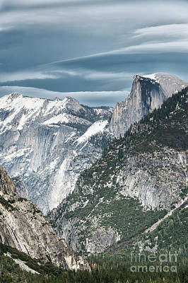 Poster featuring the photograph Storm Over Half Dome by Sandra Bronstein