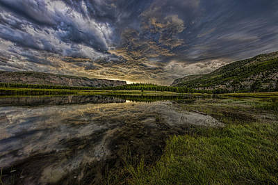 Storm Over Madison River Valley Poster