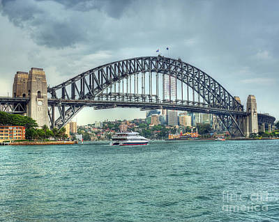 Storm Over Sydney Harbour Bridge Poster by Chris Smith