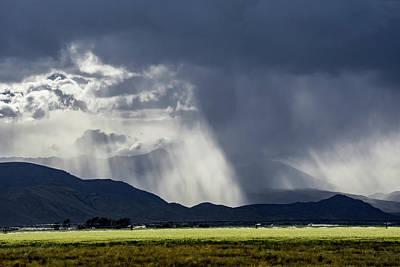 Storm Over The Big Lost River Range Poster