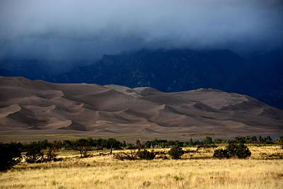 Storm Over The Great Dunes Colorado  Poster