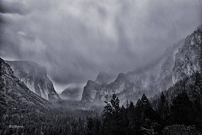 Storm Over Yosemite Poster