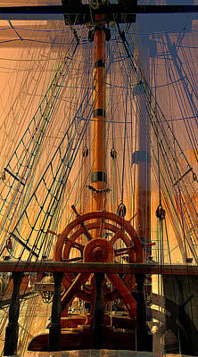 Poster featuring the photograph Storm Ship Of Old by Lori Seaman