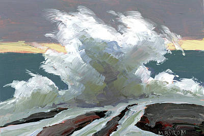 Storm Swept I Poster by Mary Byrom