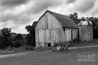Stormy Barn Poster by Perry Webster