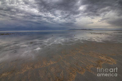 Stormy Clouds Over Antelope Island Poster