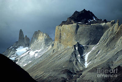 Stormy Light Over Los Cuernos Del Paine  Poster
