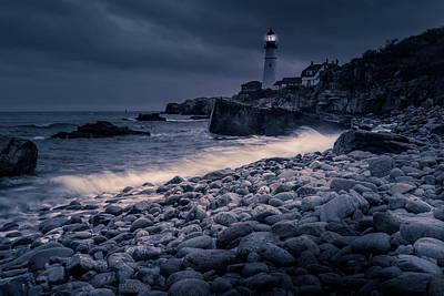 Poster featuring the photograph Stormy Lighthouse 2 by Doug Camara