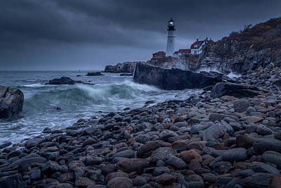Poster featuring the photograph Stormy Lighthouse by Doug Camara