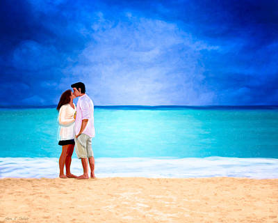 Stormy Love - Playa Del Carmen Poster