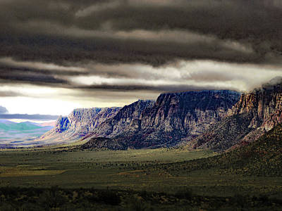 Stormy Morning In Red Rock Canyon Poster by Alan Socolik