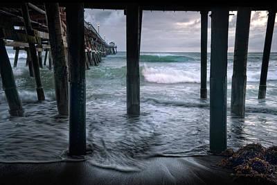 Stormy Pier Poster by Gary Zuercher