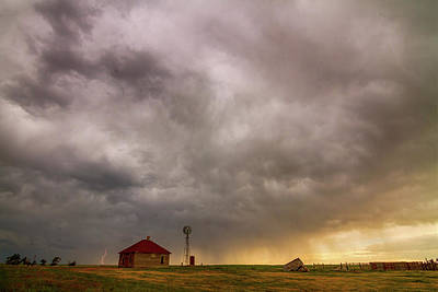 Stormy Skies On The Colorado Plains Poster