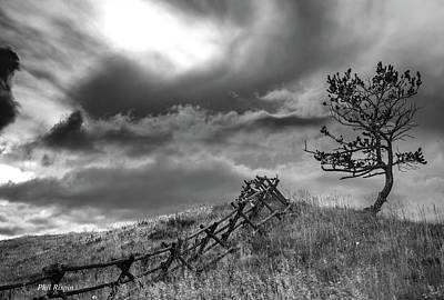 Stormy Sky At The Ranch Poster