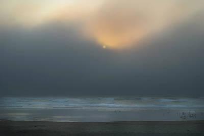 Poster featuring the photograph Stormy Sunset Oregon Coast by Yulia Kazansky