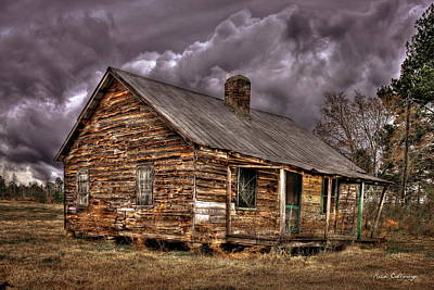 Poster featuring the photograph Stormy Times Tenant House Greene County Georgia Art by Reid Callaway
