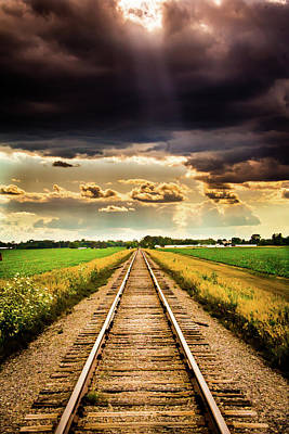Stormy Tracks Poster