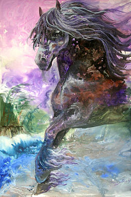 Stormy Wind Horse Poster