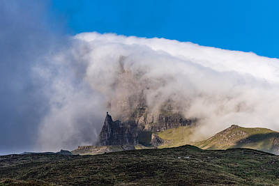 Poster featuring the photograph Storr In Cloud by Gary Eason